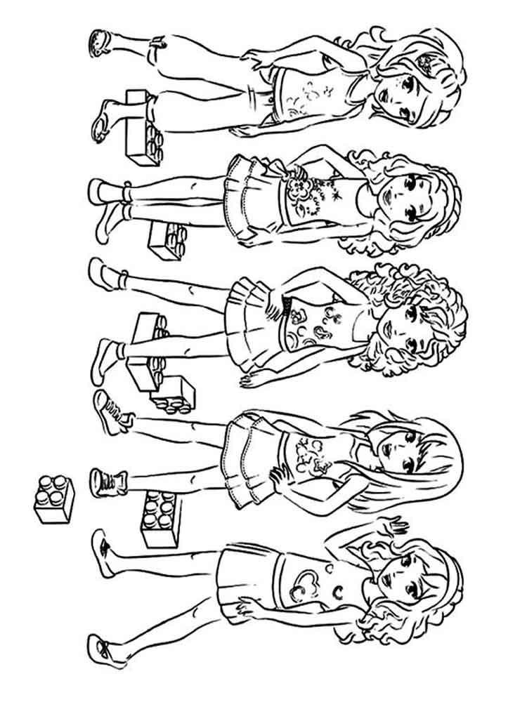 Lego Girl Coloring Pages
