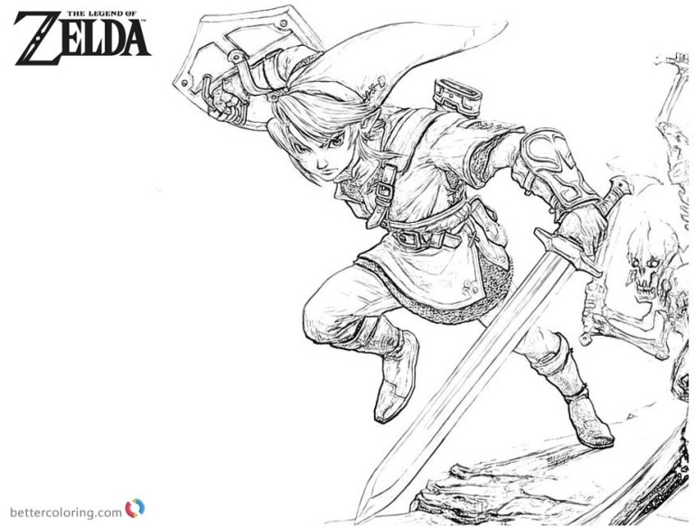 link colouring pages