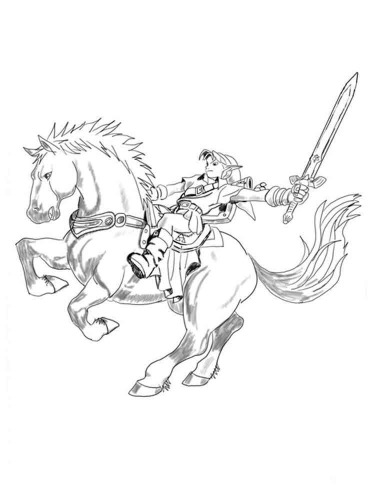 Link From Zelda Coloring Pages