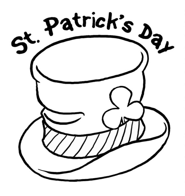 logo hat st patricks day coloring
