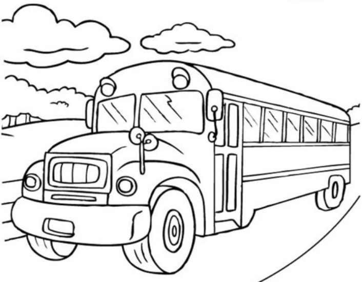 magic school bus coloring page for boy