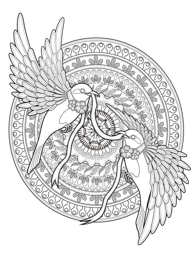 mandala animal coloring pages
