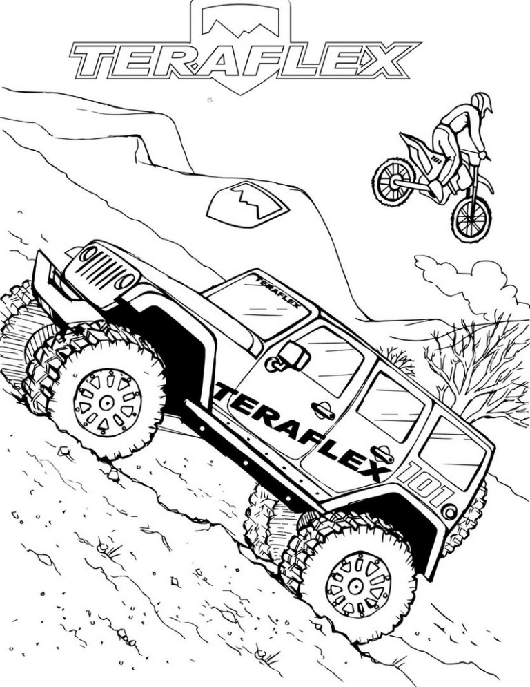off road New Coloring Pages Jeep