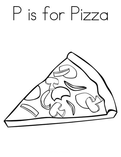 Pizza Coloring Sheets