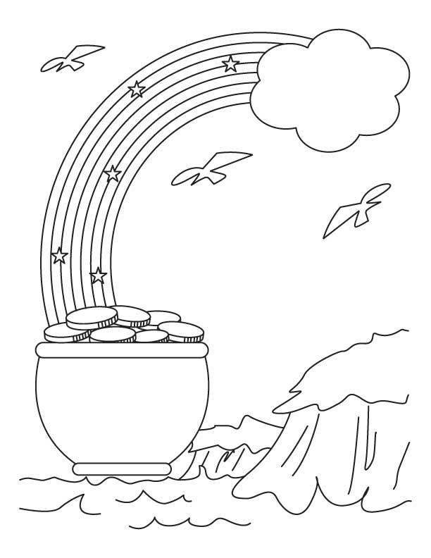 Pot Of Gold Printable Image