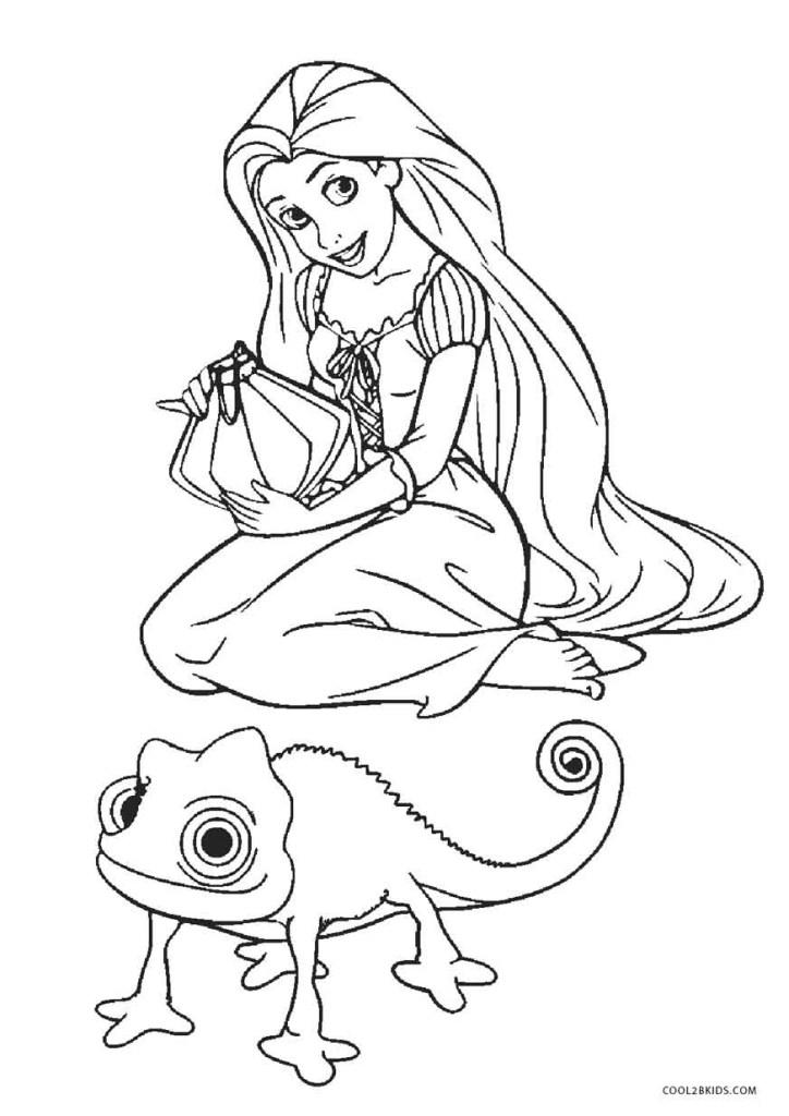 princess rapunzel coloring pages