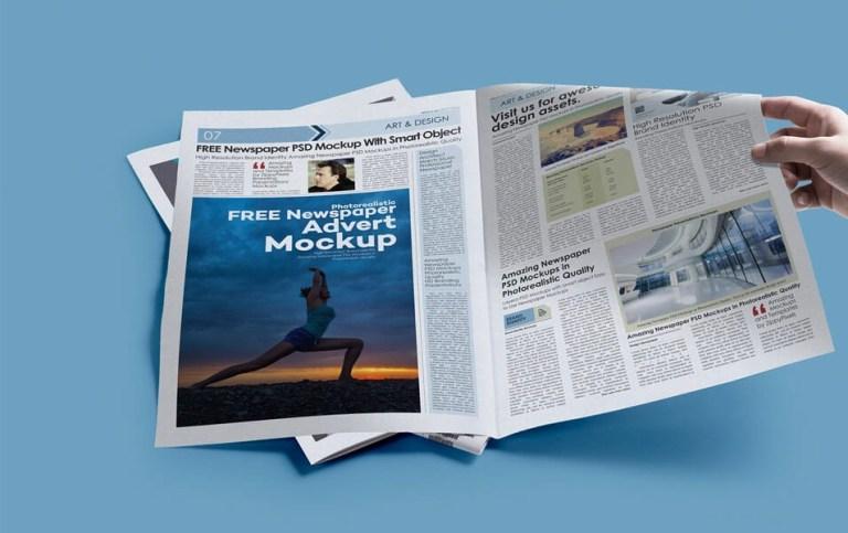 Print Ad Mockup Psd Magazine