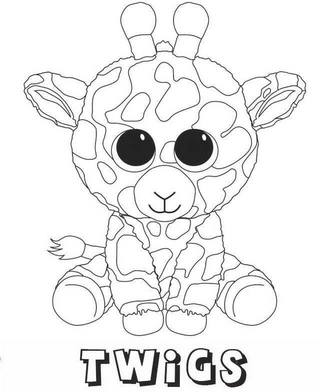 Printable Beanie Boo Coloring Pages