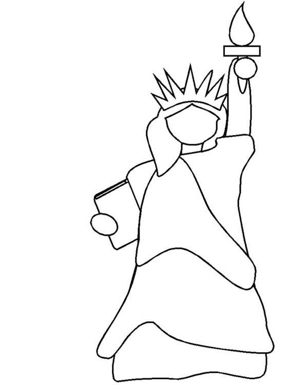 printable picture of statue of liberty