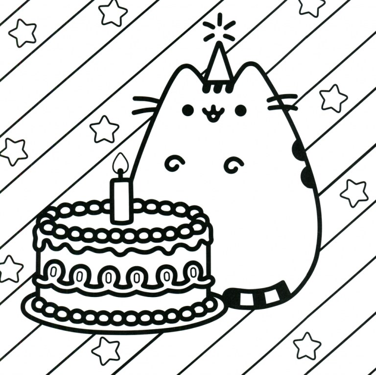 Printable Pusheen Coloring Pages