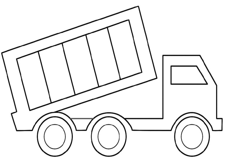 printable truck color activity shelter print