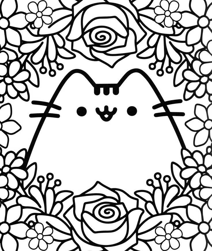 Pusheen Coloring Pages Printable