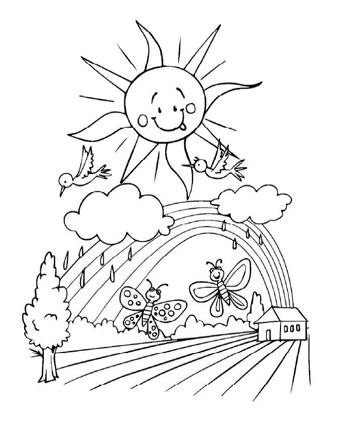 Rainbow Black And White Clipart