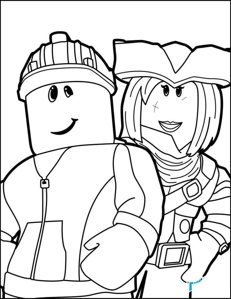 Roblox Character Coloring Pages