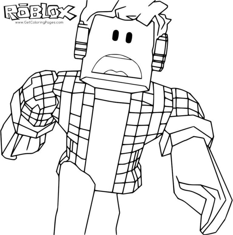 Roblox Noob Coloring Pages