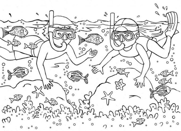 Scuba Diver Printable