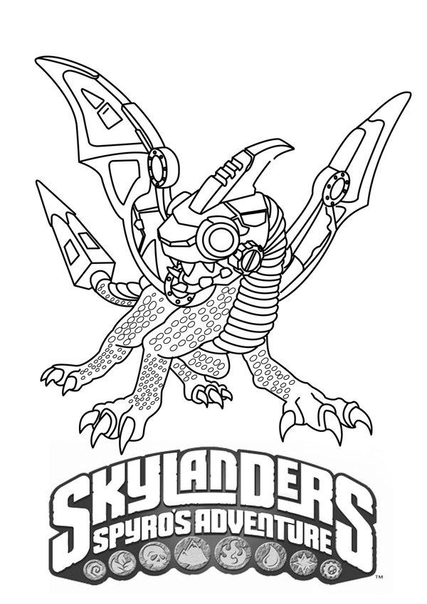 Skylander Coloring Sheets