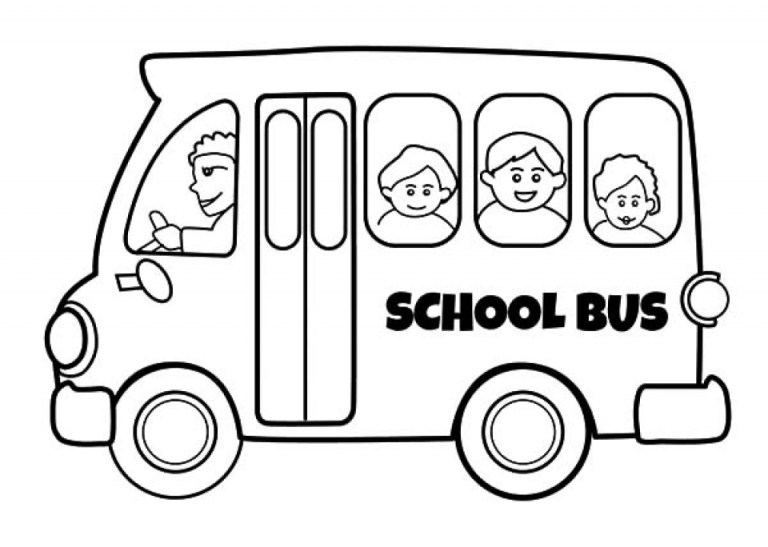 small free school bus coloring pages to print online or offline