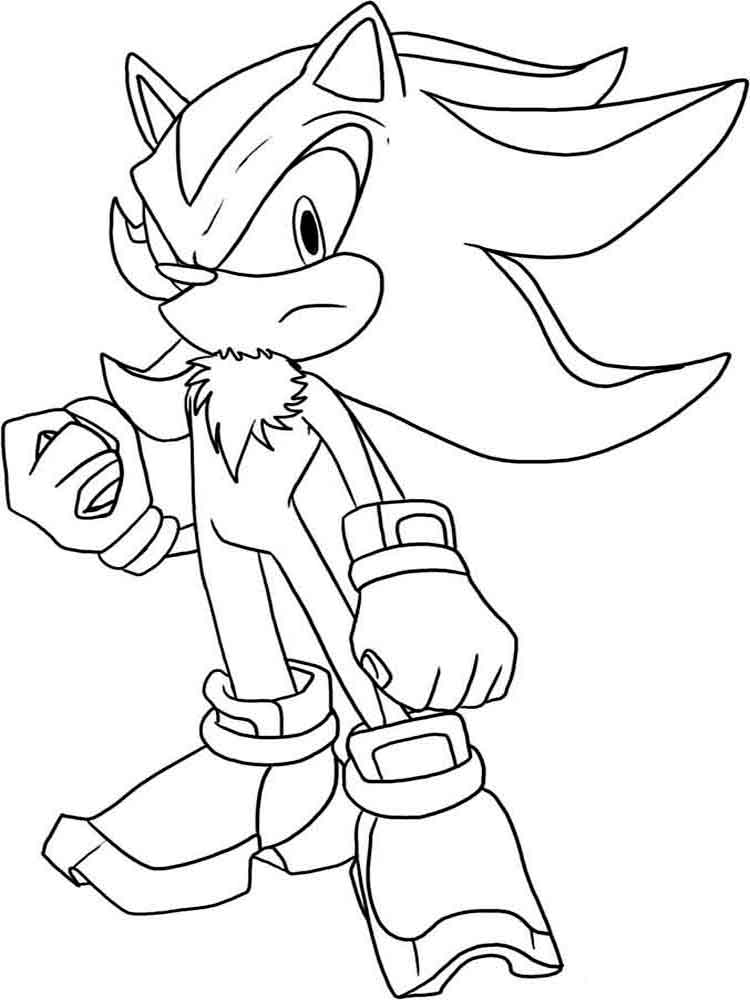 Sonic Coloring Pages Printable