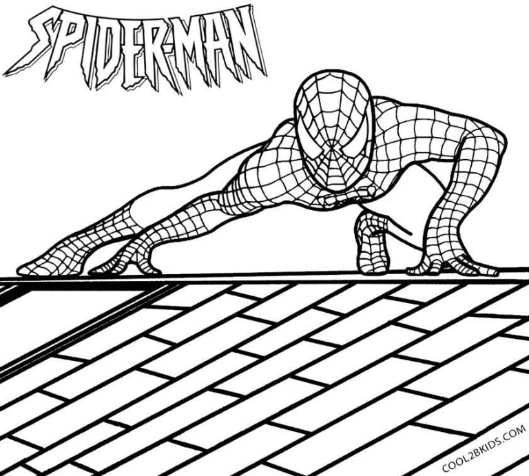 Spiderman Color Page