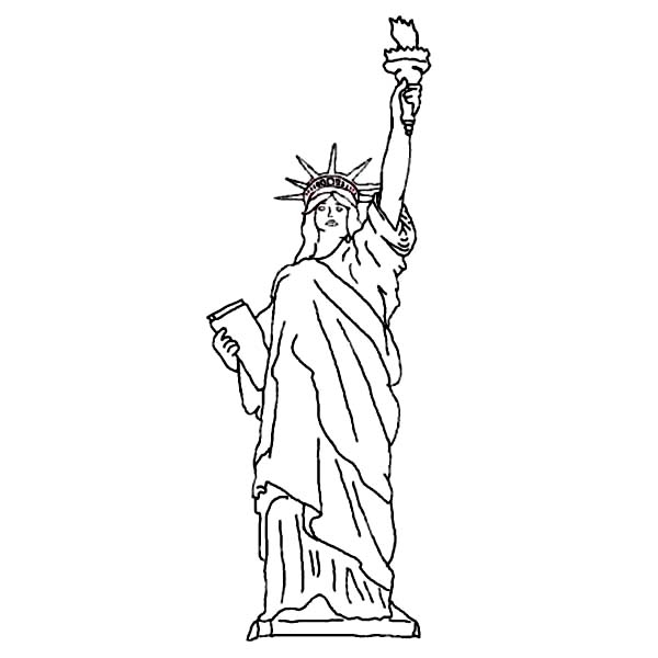 statue of liberty color pages