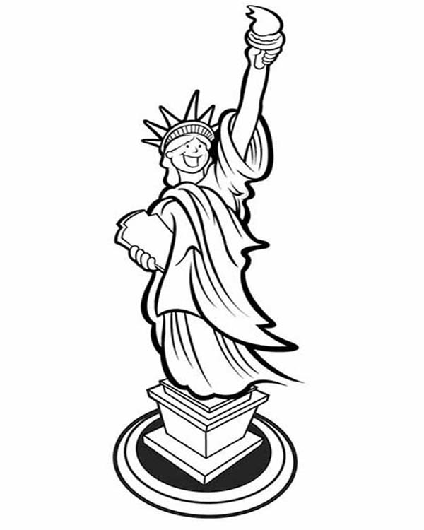 statue of liberty colouring