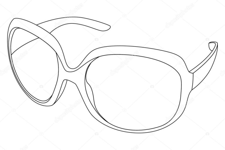 sunglass coloring page