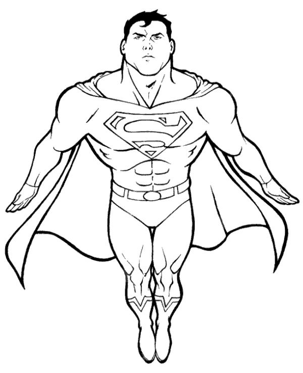 supermans portrait to colors