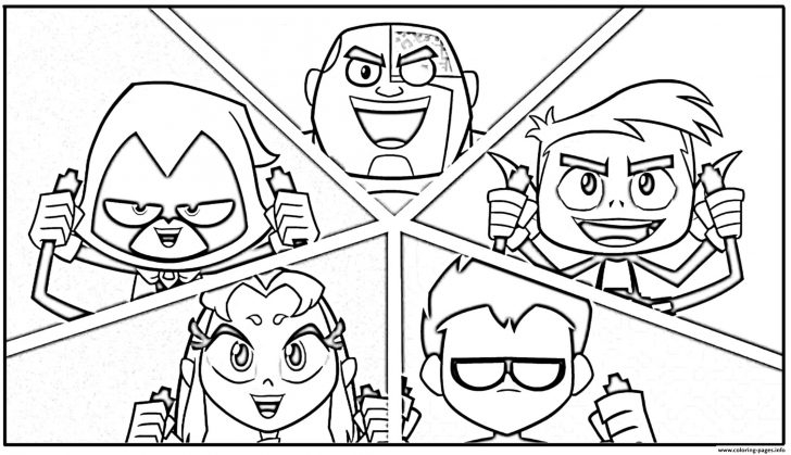 Teen Titans Go Coloring Pages Chibi