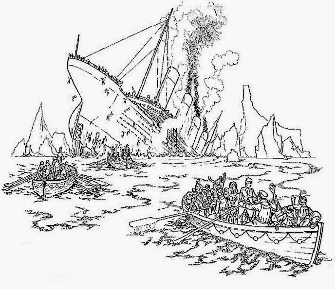 Titanic Coloring Pages Free