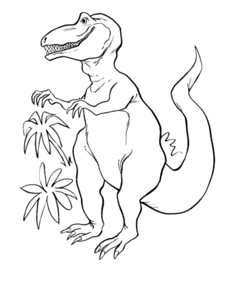 Trex Pictures To Color