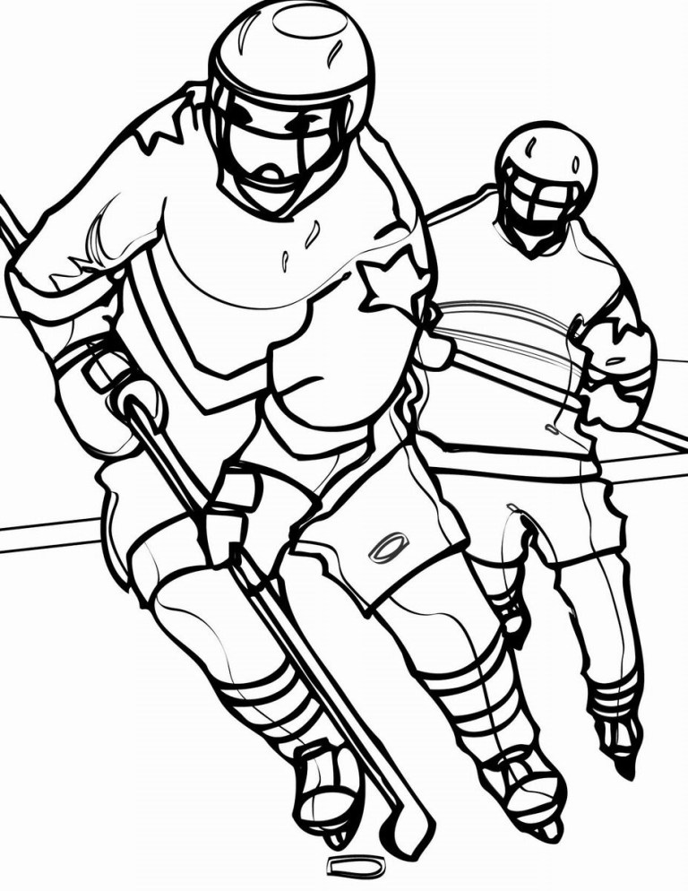 type game printable hockey coloring pages