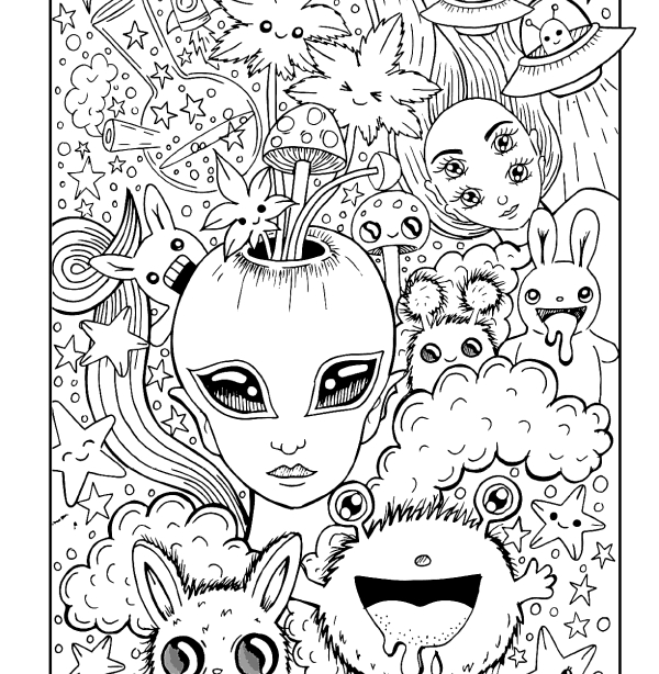 Weeds Coloring Page