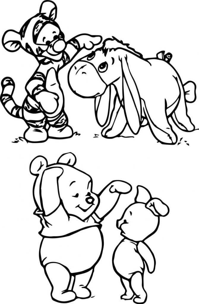 Winnie The Pooh Thanksgiving Coloring Pages