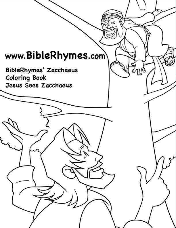 zacchaeus coloring image