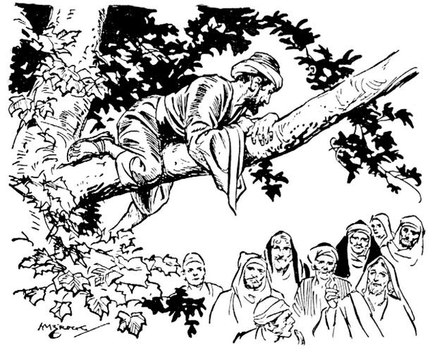 zacchaeus coloring pages png