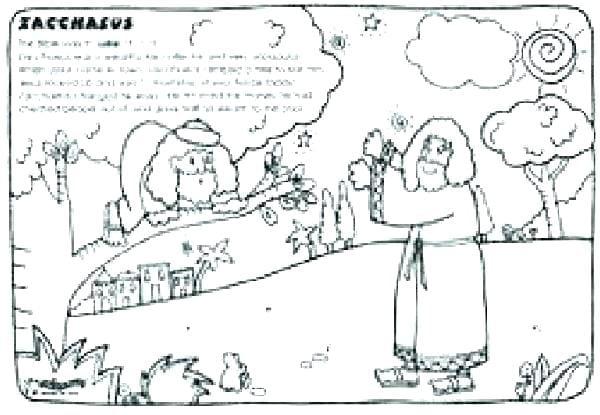 zacchaeus coloring pages printable