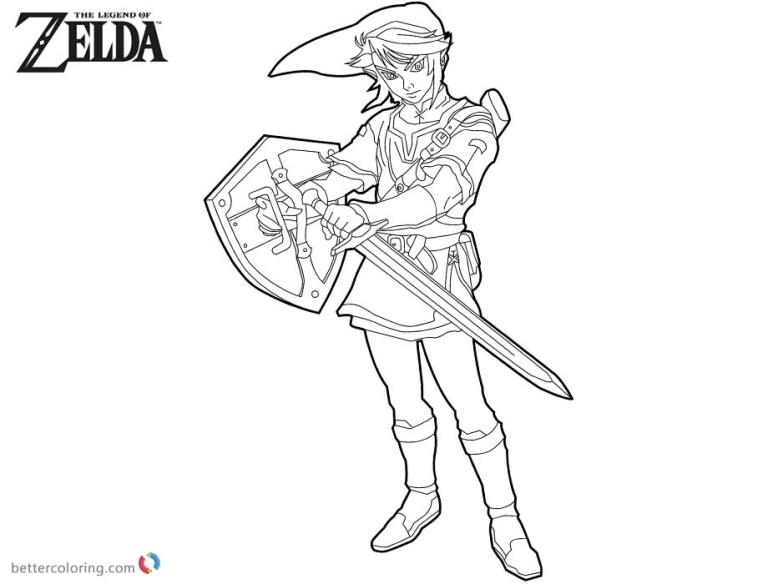 Zelda Link Coloring Pages