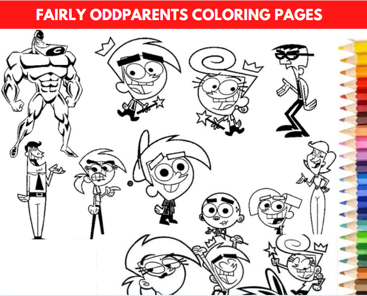 Fairly Oddparents Coloring Pages