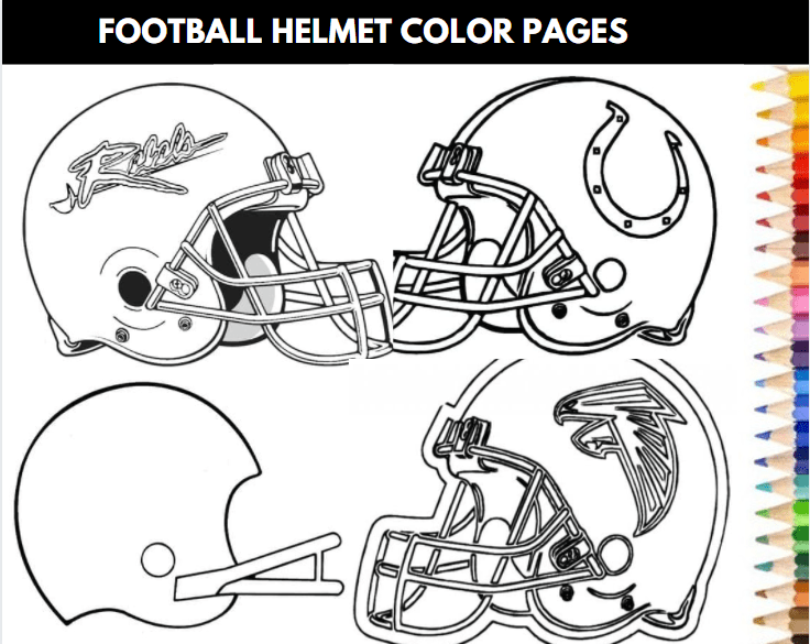 Football Helmet Color Pages