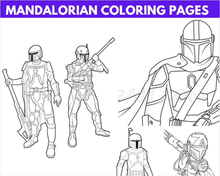 Mandalorian Coloring Pages
