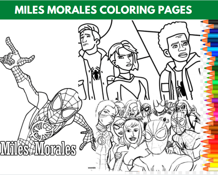 Miles Morales Coloring Page