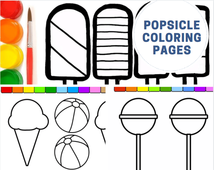 Popsicle Coloring Pages