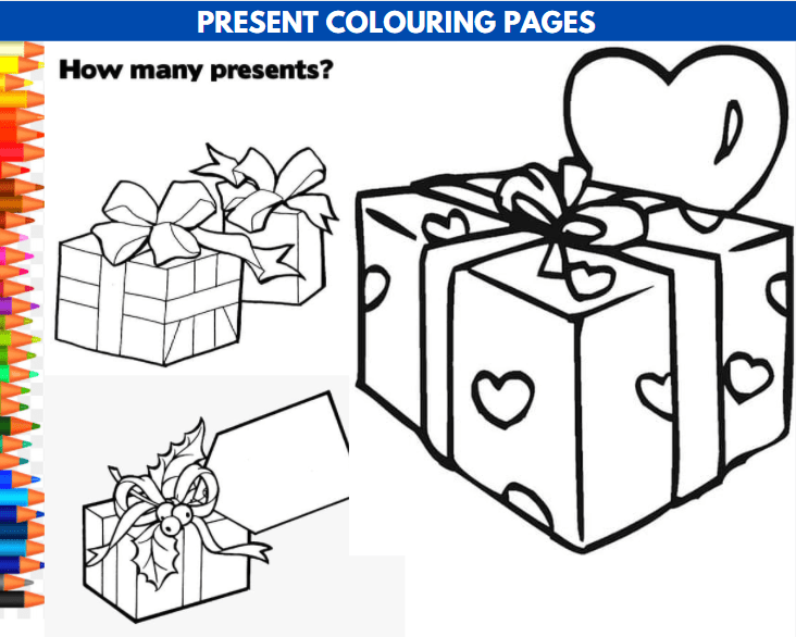 Present Colouring Page