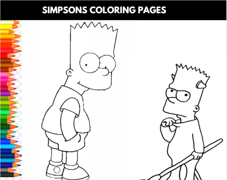 Simpsons Coloring Sheet