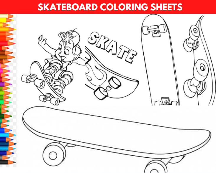 Skateboard Coloring Sheets