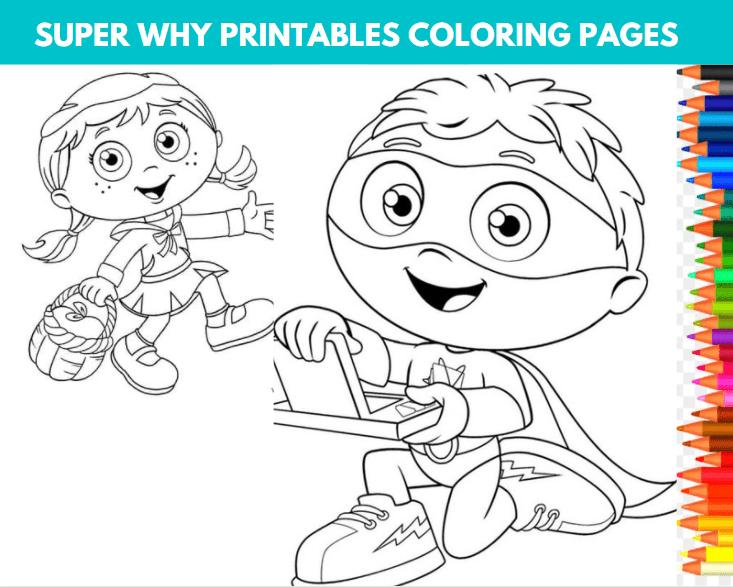 Super Why Printables