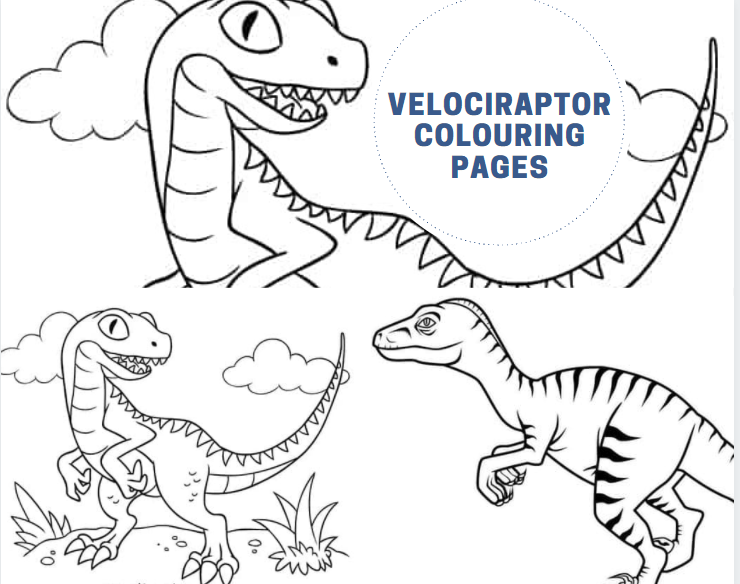 Velociraptor Colouring Pages