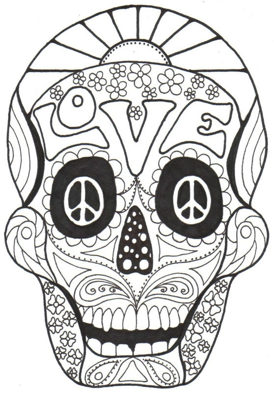 Adult Coloring Pages Day Of The Dead