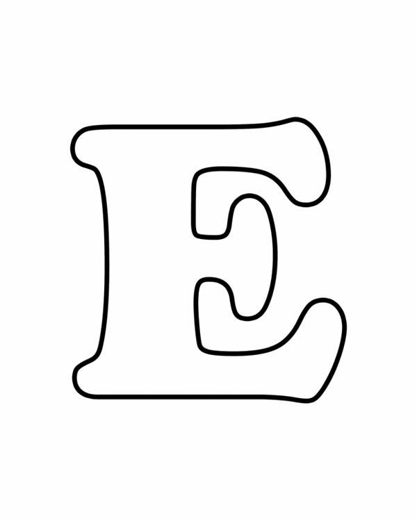 Alphabet Coloring Pages E